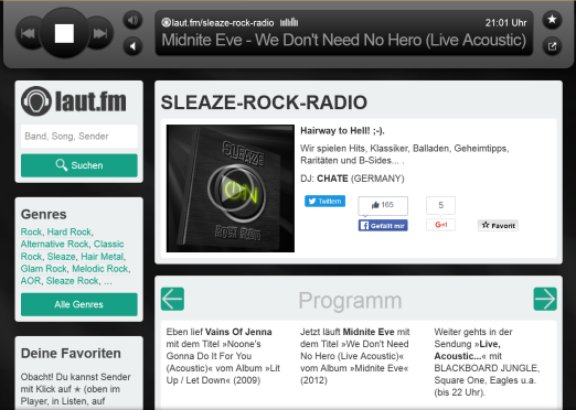 sleaze rock radio
