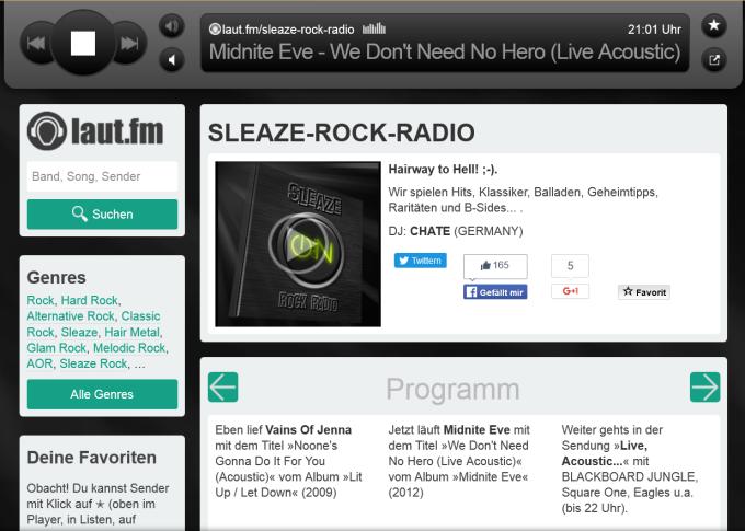 sleaze rock radio